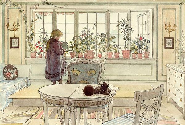 Bridgeman Flowers on the Windowsill  from Larsson  Carl  189642