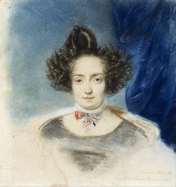 Paul Delaroche   Portrait of Mme  de Therville   Google Art Project